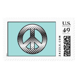 Pop Art  Peace Symbol Postage
