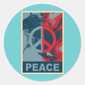 POP ART Peace Symbol Stickers