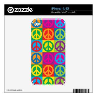 Pop Art Peace Symbols iPhone 4S Skin