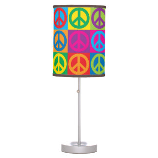 Pop Art Peace Table Lamp