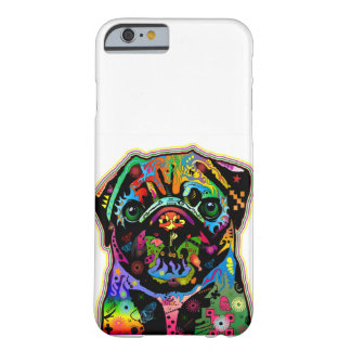 Pop Art Pet Pug Colorful Art Retro Barely There iPhone 6 Case