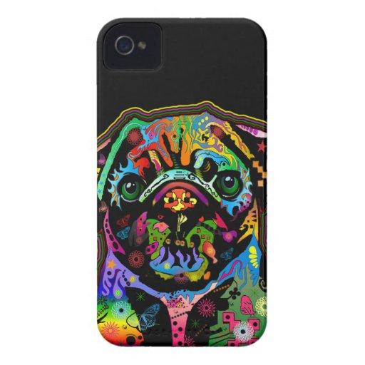 Pop Art Pet Pug Colorful Art Retro Case-Mate iPhone 4 Cases