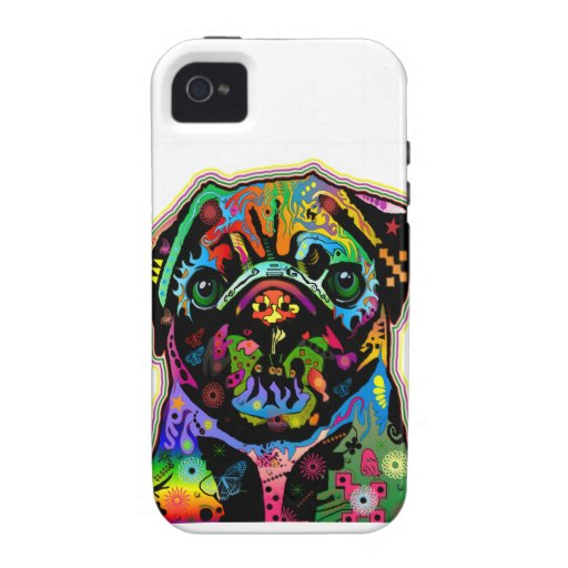 Pop Art Pet Pug Colorful Art Retro Case-Mate iPhone 4 Cover
