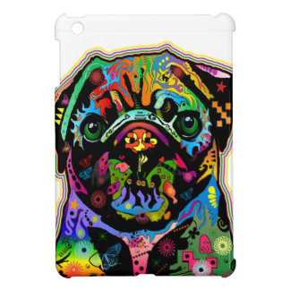 Pop Art Pet Pug Colorful Art Retro Cover For The iPad Mini