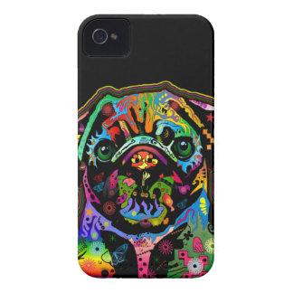 Pop Art Pet Pug Colorful Art Retro iPhone 4 Case-Mate Case