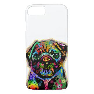 Pop Art Pet Pug Colorful Art Retro iPhone 7 Case