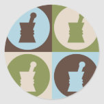 Pop Art Pharmacology Classic Round Sticker