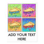 Pop Art Pie Postcard