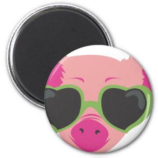 Pop art Piggy 2 Inch Round Magnet