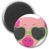 Pop art Piggy Magnet