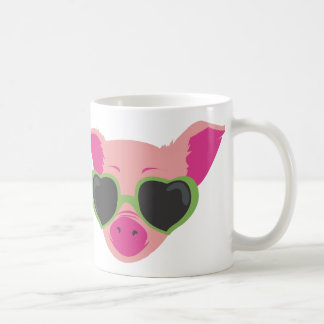 Pop art Piggy Coffee Mugs