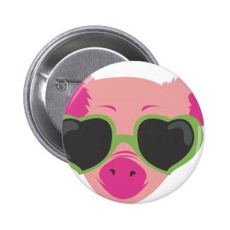 Pop art Piggy Pinback Button
