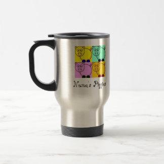 Pop Art Pigs Travel Mug