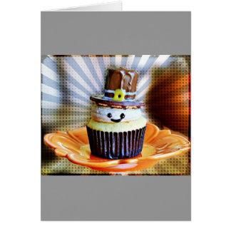 Pop Art Pilgrim Cupcakes Card