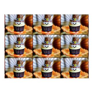 Pop Art Pilgrim Cupcakes Postcard