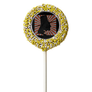 Pop Art Pilgrim Silhouette Chocolate Dipped Oreo Pop