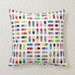 Pop-art pills on a pillow