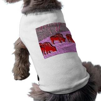 Pop Art Pink Buffalo Dog Tee Shirt