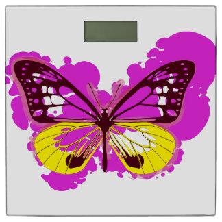 Pop Art Pink Butterfly Bathroom Scales