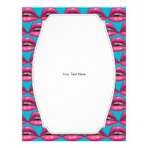 Pop Art Pink Lips Makeup Flyer