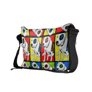 Pop Art Pit Bull Messenger Bag
