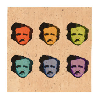 Pop Art Poe Beverage Coaster