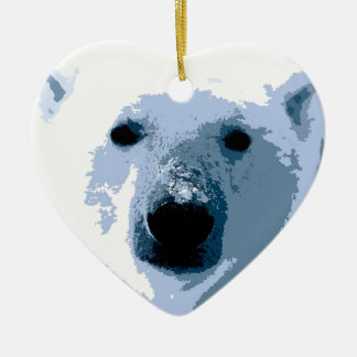 Pop Art Polar Bear Christmas Ornament