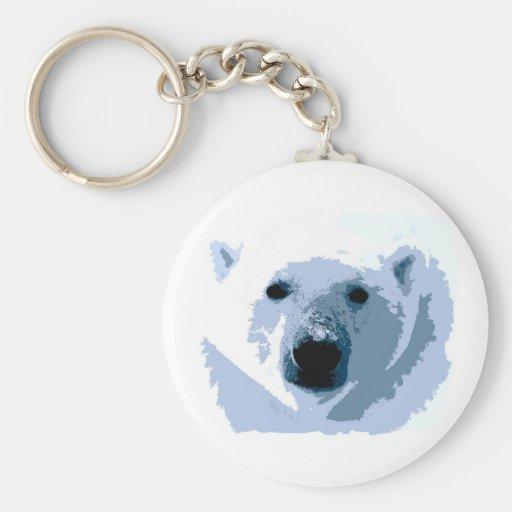 Pop Art Polar Bear Key Chains