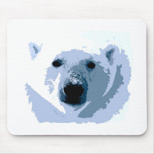 Pop Art Polar Bear Mouse Pads