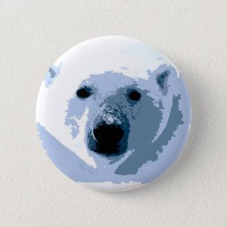 Pop Art Polar Bear Pinback Button