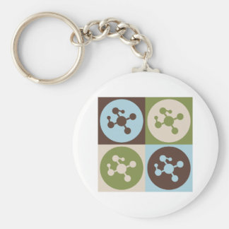 Pop Art Polymer Chemistry Key Chains