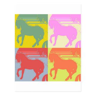Pop Art Pony Postcard