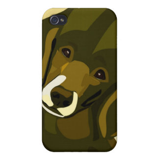Pop Art Poodle in Olive Green and Yellow iPhone 4 Cover