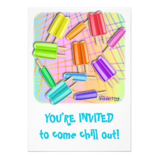 Pop Art Pop-sicles Invitations