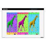 """Pop Art Popart Walking Giraffe Multi-Color 15"""" Laptop Skin"""