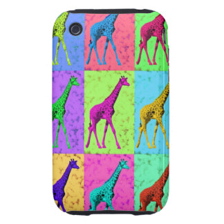 Pop Art Popart Walking Giraffe Multi-Color Tough iPhone 3 Cover