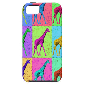 Pop Art Popart Walking Giraffe Multi-Color iPhone 5 Case