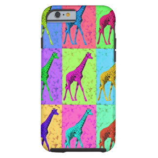 Pop Art Popart Walking Giraffe Multi-Color Tough iPhone 6 Case