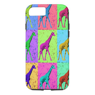 Pop Art Popart Walking Giraffe Multi-Color iPhone 8/7 Case