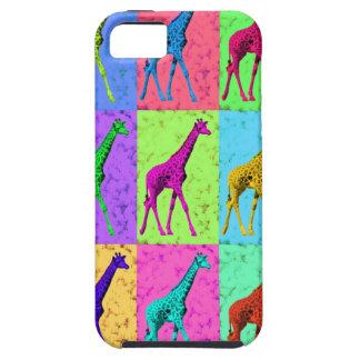 Pop Art Popart Walking Giraffe Multi-Color iPhone SE/5/5s Case