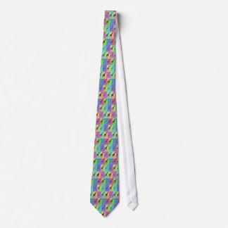 Pop Art Popart Walking Giraffe Multi-Color Neck Tie