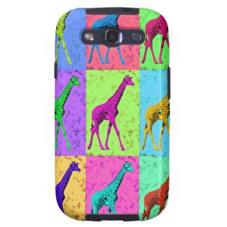 Pop Art Popart Walking Giraffe Multi-Color Samsung Galaxy SIII Cover