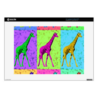Pop Art Popart Walking Giraffe Multi-Color Decal For Laptop