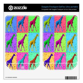 Pop Art Popart Walking Giraffe Multi-Color Skin For FreeAgent GoFlex