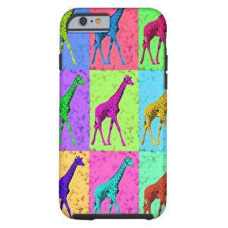 Pop Art Popart Walking Giraffe Multi-Color Tough iPhone 6 Case