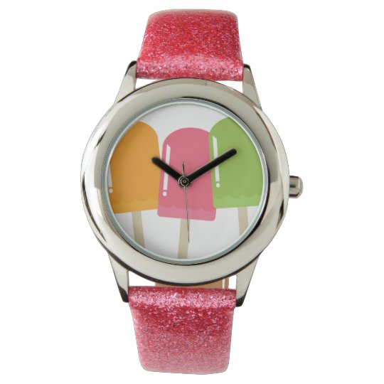 pop-art popsicle art watch for girls