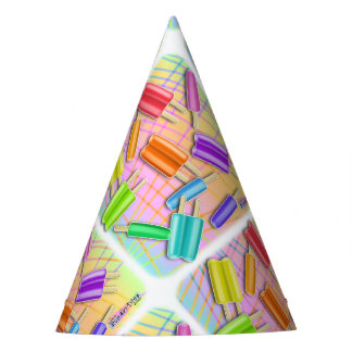 POP ART POPSICLES PARTY HAT