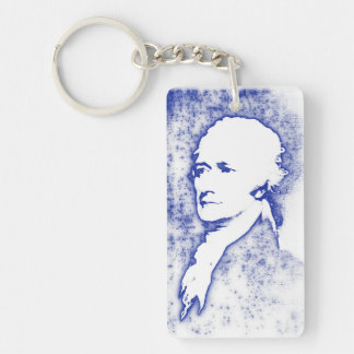 Pop Art Portrait Alexander Hamilton Keychain