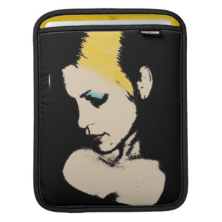 Pop Art portrait of a sad girl Sleeves For iPads