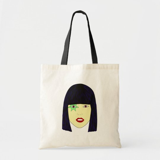 Pop Art Portrait of an Asian Girl Tote Bag